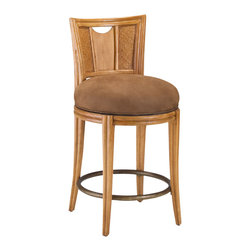 American Drew - American Drew Antigua Round Counter Swivel Stool-KD in Toasted Almond - Antigua combines popular materials, finishes, hardware and shapes and blends them with pieces for today's lifestyles. It is a collection sure to add a sophisticated coastal or tropical flare to any home. Unique options for bedroom make it easy to create the perfect setting that fits your style.