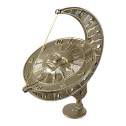 Whitehall Products LLC - Sun and Moon Sundial - French Bronze - Features: