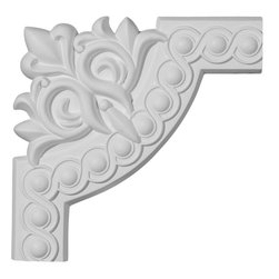 """Ekena Millwork - 10 1/4""""W x 10 1/4""""H Foster Running Coin Panel Moulding Corner - 10 1/4""""W x 10 1/4""""H Foster Running Coin Panel Moulding Corner. Our beautiful panel moulding and corners add a decorative, historic, feel to walls, ceilings, and furniture pieces. They are made from a high density urethane which gives each piece the unique details that mimic that of traditional plaster and wood designs, but at a fraction of the weight. This means a simple and easy installation for you. The best part is you can make your own shapes and sizes by simply cutting the moulding piece down to size, and then butting them up to the decorative corners. These are also commonly used for an inexpensive wainscot look."""