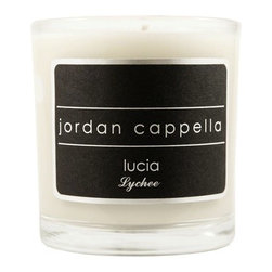 Lychee eco friendly coconut wax candle - LUCIA - Interior designer Jordan Cappella has turned his attention to home fragrance, the icing on the cake when it comes to creating a mood. This sweet scent is good for romance, the coconut wax is the most eco-friendly medium for candles.