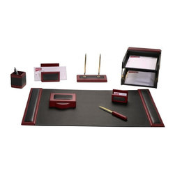 Dacasso - Dacasso Rosewood 10 Piece Wood & Leather Desk Set Multicolor - D8020 - Shop for Desk and Drawer Organizers from Hayneedle.com! About Dacasso Limited Inc.Located in Gainesville Florida Dacasso offers quality desk sets and unbeatable customer service. Dacasso manufactures leather and wood desk accessories and their product line ranges from complete leather desk sets that perfectly present a professional look to leather calendar holders that provide organization for day-to-day responsibilities. A company that believes in its products and service Dacasso guarantees your satisfaction.