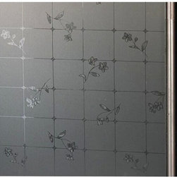 White Translucent Small Flower Privacy Window Film For Door Bathroom - Instruction: