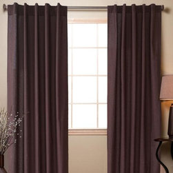 Home Decorators Collection - Cotton Sheeting Curtain Rod Pocket Panels - Set of 2 - Think of draperies as the coats to your home. Cover bare windows to add color, warmth and the final touch to make your room's style complete. Perfect for your living room, dining room or bedroom. Make these curtain panels yours today. Constructed of 100% cotton. Available in rich tones.