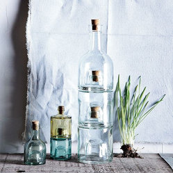 Recycled-Glass Stacking Bottles
