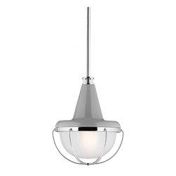 Feiss - Feiss P1306HGG/PN Livingston 1 Light High Gloss Gray Mini Pendant - Finish: High Gloss Gray