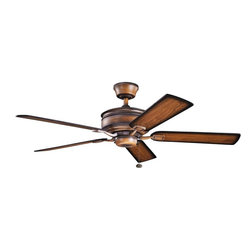 "Kichler - Duvall 52"" Ceiling Fan Mediterranean Walnut - Kichler Duvall Model KL-300178MDW in Mediterranean Walnut with Reversible Distressed Walnut/Distressed Walnut Shadowed Finished Blades."
