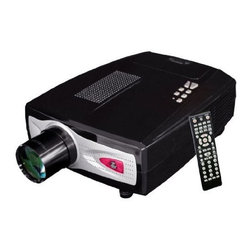PYLE - Pyle PRJHD66 TFT LCD HD Video Projector with Built in TV Tuner - Aspect ration: 16:9 or 4:3.