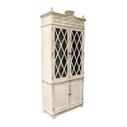 Noir - Noir - Bali Hutch, White Weathered - White Weathered Mahogany Wood