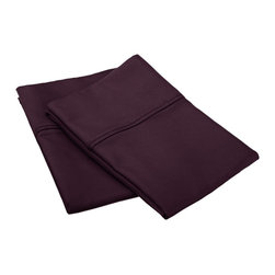 800 Thread Count Standard Pillowcase Set Solid Cotton Rich - Plum - Dress up your bedroom decor with this luxurious 800 thread count Cotton Rich pillowcase set. A superior blend of materials makes these pillowcases soft, easy to care for and wrinkle resistant.