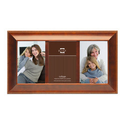 Origin Crafts - Mandalay collage 3 picture frame - walnut (4x6) - Mandalay Collage 3 Picture Frame - Walnut Natural Pine Wood, velvet back, two way easel, wall hangers. Natural wood, expert craftsmanship and unique design are combined to create a beautiful collection of wood frames. All wood is harvested from renewable plantations. Holds three 4-inch by 6-inch photos. Dimensions (in): By Prinz - Prinz is a leading supplier of picture frames. At Prinz they are committed to offering unsurpassed design, quality, and value. Ships within five business days.