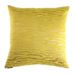 "Canaan - 24"" x 24"" Bengalla Green Animal Print Pattern Throw Pillow - Bengalla green animal print pattern throw pillow with a feather/down insert and zippered removable cover. These pillows feature a zippered removable 24"" x 24"" cover with a feather/down insert. Measures 24"" x 24"". These are custom made in the U.S.A and take 4-6 weeks lead time for production."