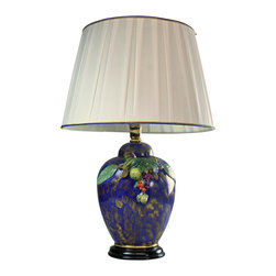 EuroLux Home - Italian Majolica Table Lamp Hand-Painted - Product Details