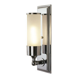 Loft Light - Single light encased in frosted glass with a variety of metal finishes.