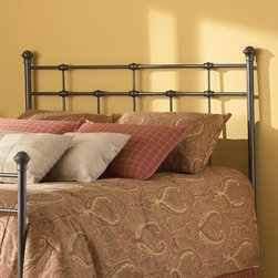 Grandin Road - Dexter Headboard - Metal headboard with solid castings where the rails intersect. Versatile dark brown finish provides a neutral backdrop for your bedding. Excludes metal bed frame. Minor assembly. Achieve a stately and historic look in your bedroom with our well-crafted Dexter Headboard. Metal spindles and cross-rails are united by solid castings that provide strength and handsome good looks. The vibe may be nostalgic, but the construction is modern and sturdy.  .  .  .  .