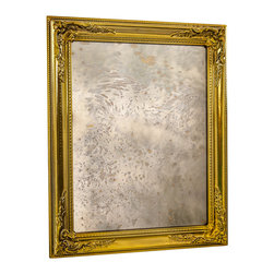 """Art Dallas, Incorporated - Art Dallas Antique Mirror - Daisy Girl - An Art Dallas handcrafted """"Daisy Girl"""" Antique Mirror framed with our Flash® molding with a gold undercoat."""