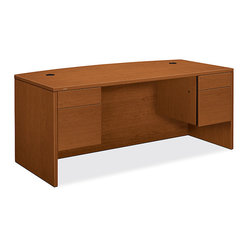 10500 Series Bow-Front Pedestal Desk 1
