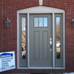 Entry Doors - Suburban Construction installation teams.