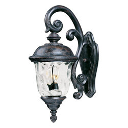 Maxim Lighting - Maxim Lighting Carriage House VX Traditional Outdoor Wall Sconce X-BOGW69404 - Enchant your friends and neighbors with a friendly glow from your Maxim Lighting Carriage House VX Traditional Outdoor Wall Sconce - MX-40496-WG-OB. The antique oriental bronze styling makes this piece the perfect addition to your porch or patio. The shimmering water glass is exquisite and worth admiring.