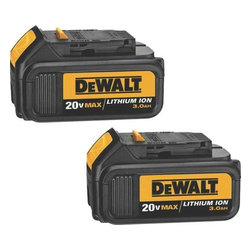 Dewalt - 20V Lith-Ion Battery 2-Pack - DEWALT DCB200 20 Volt max Li-ion battery packs are a 3.0 Ah extended run time battery that provides long a run time and battery life. They have no memory and virtually no self-discharge for maximum productivity and less downtime. They are light weight, weighing only 1.6 Lbs., allowing users maximum runtime and less fatigue. This is a package of 2 batteries.