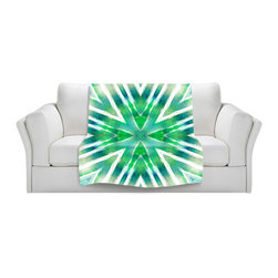 DiaNoche Designs - Throw Blanket Fleece - Batik Mandala See Colors - Original Artwork printed to an ultra soft fleece Blanket for a unique look and feel of your living room couch or bedroom space.  DiaNoche Designs uses images from artists all over the world to create Illuminated art, Canvas Art, Sheets, Pillows, Duvets, Blankets and many other items that you can print to.  Every purchase supports an artist!