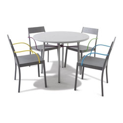 Amanda Collection Outdoor Bistro Table and Chairs - Ananda Collection bistro table and chair set from Steve&James.