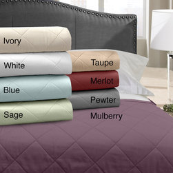 Veratex - Grand Luxe 500 Thread Count Egyptian Cotton Blanket - Relax in comfort with this Grand Luxe blanket. Available in a 500 thread count this luxurious,100-percent Egyptian cotton blanket is incredibly soft to the touch. This throw will provide great warmth all year with its polyester fill.