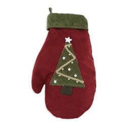 """Chooty & Co. - Chooty and Co. Tree Lined Suede Mitten Stocking - TTM19810320 - Shop for Holiday Ornaments and Decor from Hayneedle.com! About Chooty & Co.A lifelong dream of running a textile manufacturing business came to life in 2009 for Connie Garrett of Chooty & Co. This achievement was kicked off in September of '09 with the purchase of Blanket Barons well known for their imported """"soft as mink"""" baby blankets and equally alluring adult coverlets. Chooty's busy manufacturing facility located in Council Bluffs Iowa utilizes a talented team to offer the blankets in many new fashion-forward patterns and solids. They've also added hundreds of Made in the USA textile products including accent pillows table linens shower curtains duvet sets window curtains and pet beds. Chooty & Co. operates on one simple principle: """"What is best for our customer is also best for our company."""""""