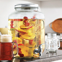 Mason Jar Dispenser - Bring some of that southern charm to your next garden party or backyard BBQ. This Mason Jar Dispenser holds your favorite coolers and summer beverages in high rustic style.