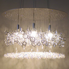 Contemporary Chandeliers by water pressure lighting by dwellings ltd