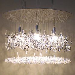 lather up! swarovski crystal chandelier by water pressure lighting