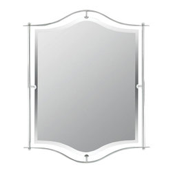 Quoizel - Quoizel DI43224C Demitri Transitional Mirror - Give your bathroom modern lighting that exudes sleekness and simplicity. The shiny chrome finish is a classic, and coordinates with many sink fixtures.