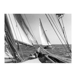 Artehouse Sailboat 2 Art Print - 18W x 24H in. - Adventure on the high seas. Sailboat 2 is an artistic depiction of sailboats on the ocean. This photograph measures 24L x 18 inches high has a classic white border and comes ready for framing. It is a limited edition black and white photograph printed on Somerset Velvet paper. Excellent gift idea!