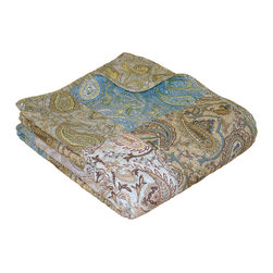 None - Vintage Paisley Patchwork Quilted Throw - Carefully pieced and quilted, the Vintage Paisley quilt adds distinctive sophistication to your bedroom. Prewashed and pre-shrunk, this quilted throw has tightly fabric bound edges for durability. The throw reverses to a coordinating fashion print.