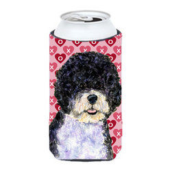 Caroline's Treasures - Portuguese Water Dog Hearts Love Valentine's Day Tall Boy Koozie Hugger - Portuguese Water Dog Hearts Love Valentine's Day Tall Boy Koozie Hugger Fits 22 oz. to 24 oz. cans or pint bottles. Great collapsible koozie for Energy Drinks or large Iced Tea beverages. Great to keep track of your beverage and add a bit of flair to a gathering. Match with one of the insulated coolers or coasters for a nice gift pack. Wash the hugger in your dishwasher or clothes washer. Design will not come off.