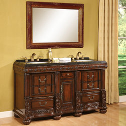 "B&I - B&I Direct 60"" Bathroom Vanity, Bradford - HomeThangs.com - B&I Direct 60"" Bathroom Vanity, Bradford 1310AS"