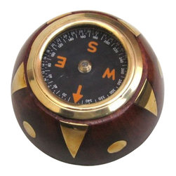 "Handcrafted Model Ships - Brass/Wooden Decorative Compass 3"" - Decorative Compass - Ideal for the nautical enthusiast and explorer in your life, this decorative black/wood north star compass 3"" is the essential navigational tool. Crafted in the classic style from solid wood with brass trimming, this compass is as beautiful as it is durable."