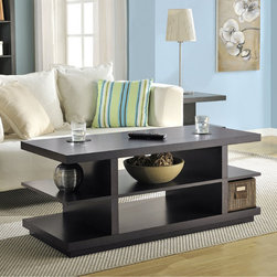 Altra - Altra Hollow Core Coffee Table/TV Stand - This versatile piece of furniture doubles as a coffee table or a TV stand. With its warm espresso finish, its poised to fit in to almost any living room layout.