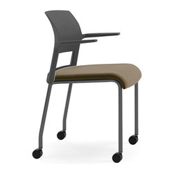 Steelcase - Steelcase Move Multi-Use Chair, Black Frame w/Arms & Casters - It's not just a chair, it's your personal support system. Innovative flexors under the cushion conform to your body and curve with your every move for incredible comfort. You'll soon consider it the best seat in the house — and because it's on castors, it can go anywhere you go.