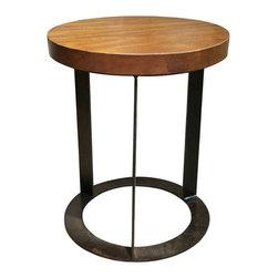 NOIR - NOIR Furniture - Alison Side Table in Dark Walnut - GTAB623MT - Features: