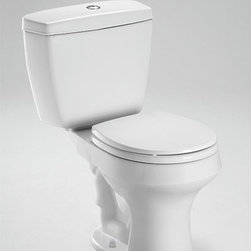 "Toto Rowan Elongated Two Piece Toilet 1.6 GPF/ 1.0 GPF CST406MF - 28-1/4""L x 18-1/2""W x 31-11/16""H"