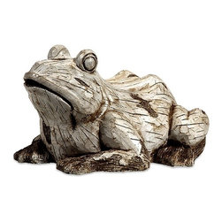 IMAX CORPORATION - Singleton Garden Frog - This happy, hoppy friend is perfect for adding character inside or out! With the look of aged, carved, white washed wood, this amphibious character works great as a door stop, a garden decoration, or a decorative room accent in an enclosed patio. Find home furnishings, decor, and accessories from Posh Urban Furnishings. Beautiful, stylish furniture and decor that will brighten your home instantly. Shop modern, traditional, vintage, and world designs.