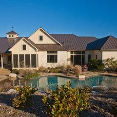 Farmhouse Pool by Authentic Custom Homes