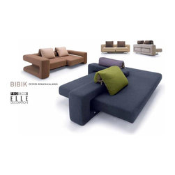 Bibik Sofa - Bibik line was featured in Museum of Decorative Arts, Berlin, Germany 2007. BIBIK is available in CLASSIC and LOFT configuration. BIBIK LOFT with mobile arm finished in premium natural veneer can be finished in various premium fabrics, premium Leather or authentic Alcantara. Cushions are extra. Shipping is extra. Lead time around 12-14 weeks