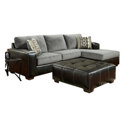 Chelsea Home Furniture - Chelsea Home Bradford 2-Piece Living Room Set in Cumulus Charcoal - Bradford 2-Piece Living Room Set in Cumulus Charcoal belongs to the Chelsea Home Furniture collection