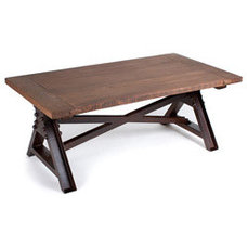 Wooden Top Coffee Table (India) | Overstock.com