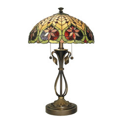 Dale Tiffany - Dale Tiffany TT60024 Markus Traditional Tiffany Table Lamp - In our Traditional Tiffany Collection, we use the same high quality copperfoil and leading technique that Louis Comport Tiffany perfected in his original creations. His love of flowers and nature reflects in many of our shades and bases. In many cases, colors and design were updated to coordinate with home decor that is popular today. Louis Comfort Tiffany was constantly innovating his many techniques and styles, and Dale Tiffany has continued that heritage.