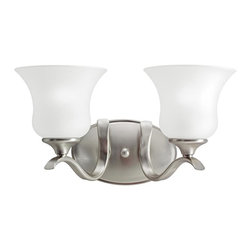 Kichler - Kichler Wedgeport 2-Light Brushed Nickel Vanity - 10637NI - This 2-Light Vanity is part of the Wedgeport Collection and has a Brushed Nickel Finish. It is Energy Efficient, and Title 24 Compliant.
