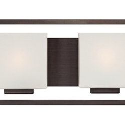 "Possini Euro Design - Lighting on the Square Bronze 45"" Wide Bath Wall Light - This six-light bathroom wall light features sleek lines for a contemporary appeal. The rectangular shades of opal glass are positioned to complement the geometric form of this design. A great modern update your for stylish bath. This is an ADA compliant bath light. Metal construction. Bronze finish. Opal glass shades. ADA compliant. Takes six 40 watt bulbs (not included). 8"" high. 45"" wide. Extends 4"" from the wall. Backplate is 4 1/2"" high and wide.  Bronze finish.   Metal construction.   Opal glass shades.   ADA compliant.   Takes six 40 watt bulbs (not included).   8"" high.   45"" wide.   Extends 4"" from the wall.   Backplate is 4 1/2"" high and wide."