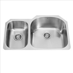 Vigo - VIGO VG3121R Double Bowl Sink - The VIGO double bowl kitchen sink will complement any decor and is highly functional. Every design detail is featured in this sink to meet your needs.