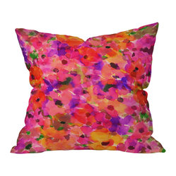 Amy Sia Fleur Rouge Throw Pillow, 18x18x5